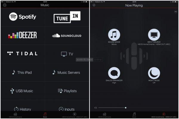 Denon HEOS HomeCinema HS2 soundbar App