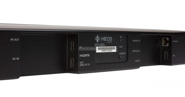Denon HEOS HomeCinema HS2 soundbar hátlap