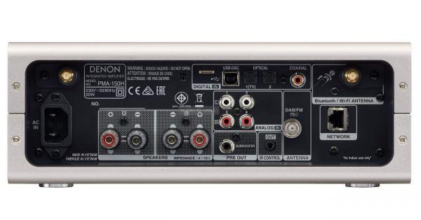Denon PMA-150H hálózati sztereó rádióerősítő hátlap