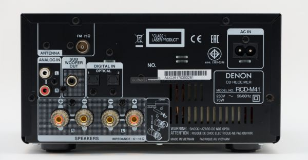 Denon RCD-M41 mikro hifi hátlap