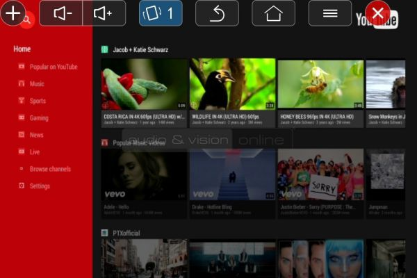 DreamVision Dreamy Geek II mini LED projektor App YouTube lejátszás