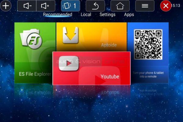 DreamVision Dreamy Geek II mini LED projektor App menü tükrözés