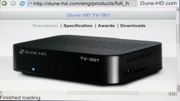 HDI Dune HD TV-301 média lejátszó web