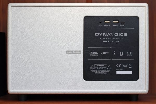 Dynavoice Classic CL-15A Bluetooth hangszóró hátlap