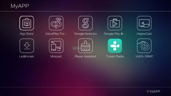 Egreat A11 Applikációk tunein install