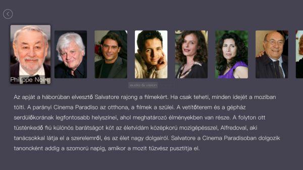 Egreat A5 médialejátszó - Cinema Paradiso szereplők