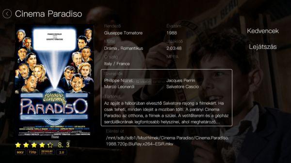 Egreat A5 médialejátszó - Cinema Paradiso