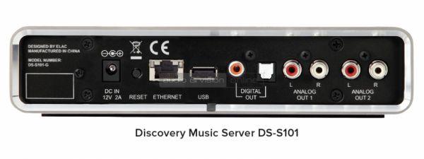 ELAC Discovery DS-S101-G zeneszerver hátlap