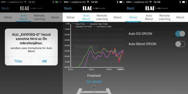 ELAC Element EA101EQ-G App - Auto Blend
