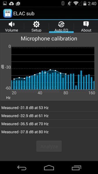 ELAC SUB 2050 és 2070 mélyláda applikáció