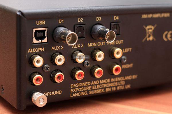 Exposure XM HP fejhallgató erősítő hátlap