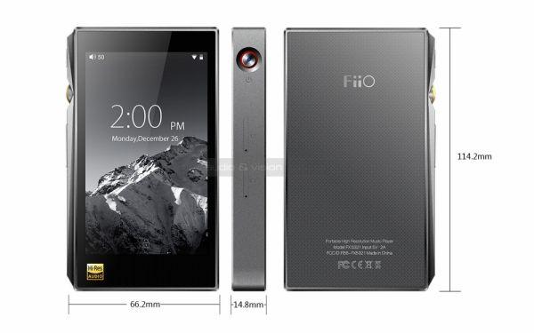 FiiO X5 3rd gen audio lejátszó méretek