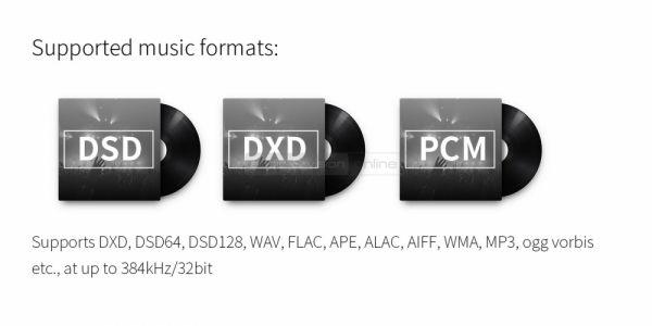 FiiO X5 3rd gen audio lejátszó lejátszható formátumok