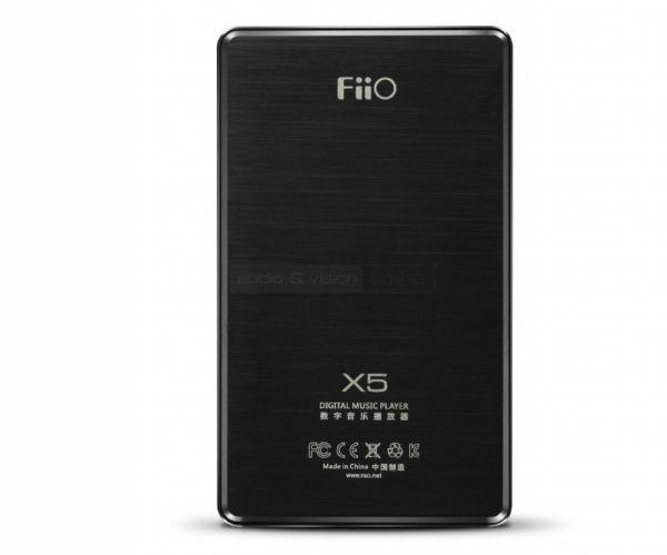 FiiO X5 mobil hifi lejátszó és DAC hátlap