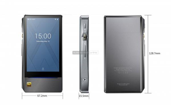 FiiO X7 Mark II mobil hifi lejátszó méretek