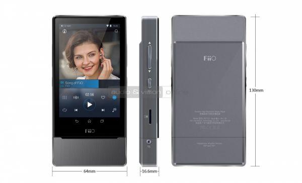 FiiO X7 audio lejátszó méretek