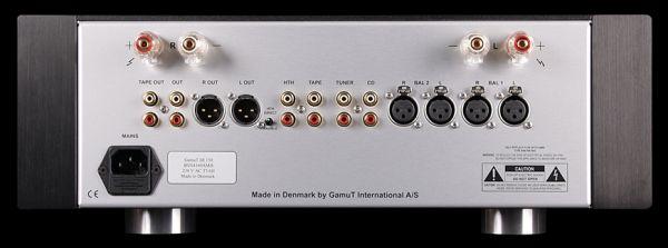 GamuT Di150 dual mono integrált erősítő hátlap