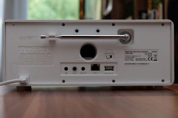 Hama DIR3115 digitális rádió hátlap