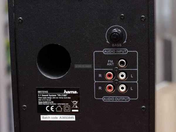 Hama PR-2180 multimédiás hangszóró mélyláda hátlap