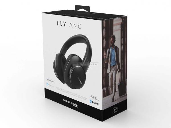 Harman Kardon FLY ANC aktív zajzáras Bluetooth fejhallgató doboz