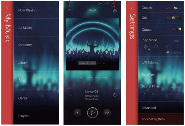 iBasso DX300 mobil zenelejátszó mango OS