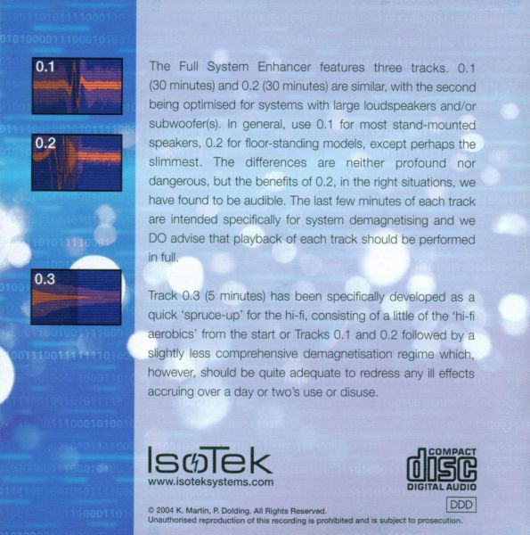 IsoTek Full System Enhancer & Rejuvenation Disc