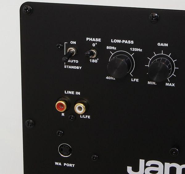 Jamo J 112 SUB aktív mélyláda hátlapi csatlakozók