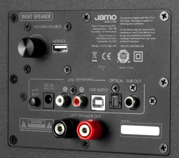 Jamo S 801 PM aktív hangfal hátlap
