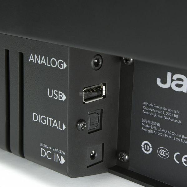 Jamo SB 40 soundbar csatlakozók