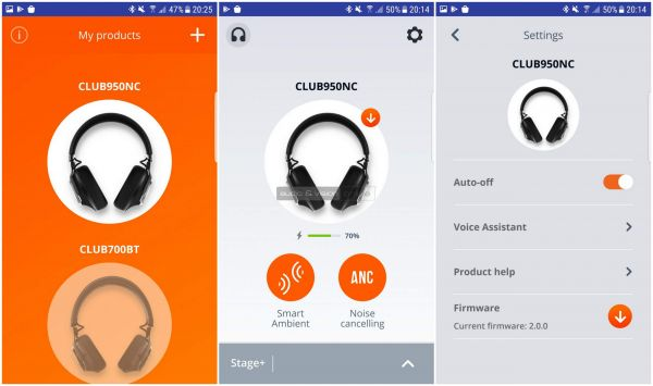 JBL CLUB 950NC App