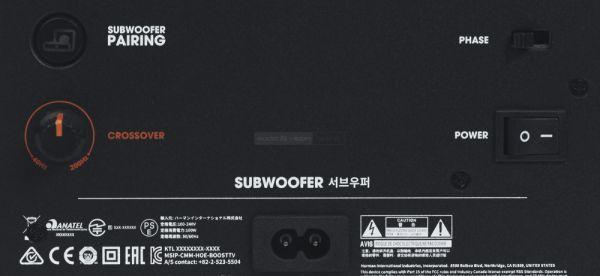 JBL Cinema SB450 soundbar mélyláda hátlap