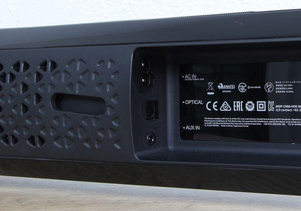 JBL Cinema SB450 soundbar audio bemenetek