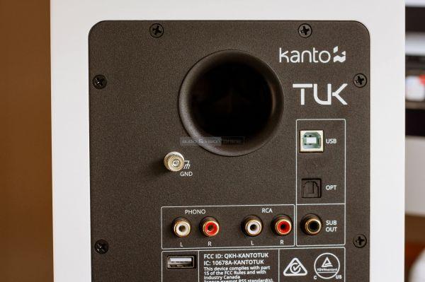 Kanto TUK aktív hangfal hátlap