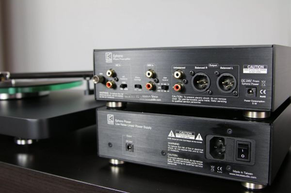 KECES Audio Ephono phono erősítő hátlap