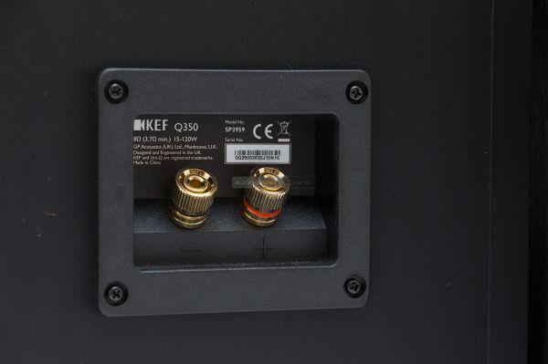 KEF Q350 hangfal csatlakozó