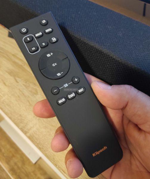 Klipsch Cinema 600 Sound Bar soundbar távvezérlő