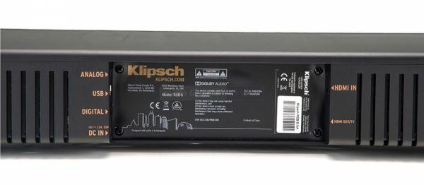 Klipsch RSB-8 soundbar hátlap