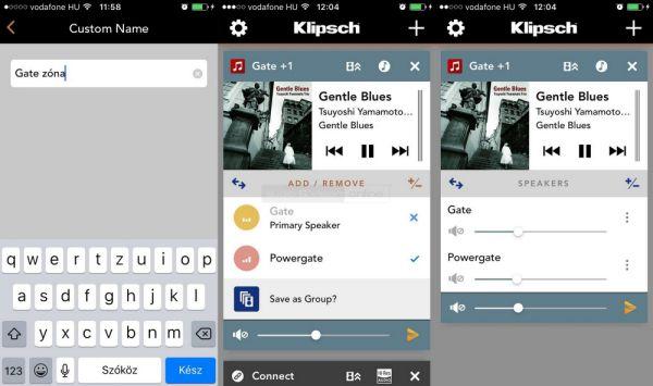 Klipsch Stream App zónák