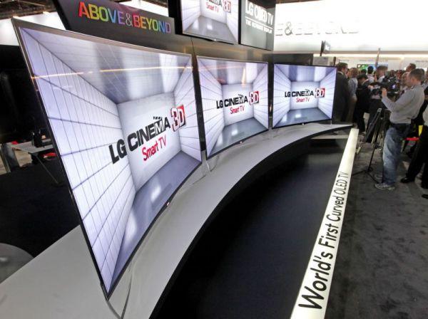 LG 55EA9800 íves hajlított OLED TV CES 2013
