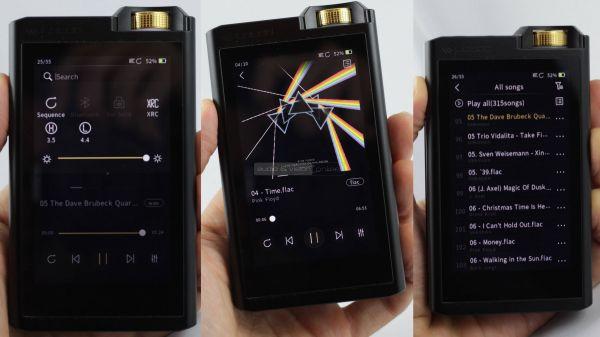 Lotoo PAW Gold Touch mobil zenelejátszó menürendszer