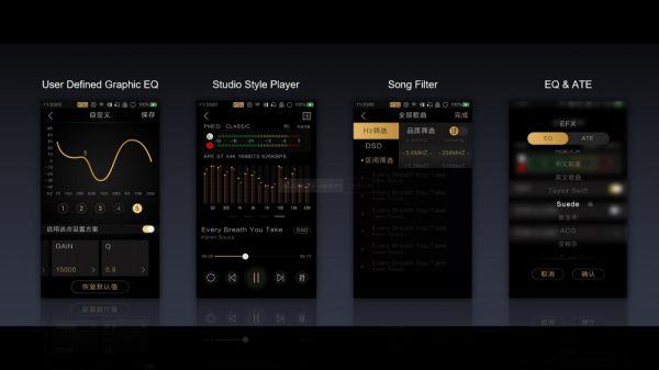 Lotoo PAW Gold Touch zenelejátszó menü