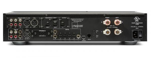 Lyngdorf Audio TDAI-2170 sztereó erősítő hátlap