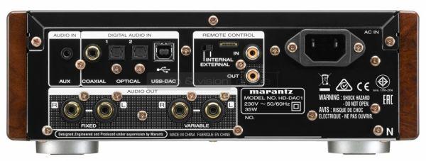 Marantz HD-DAC1 fejhallgató erősítő hátlap