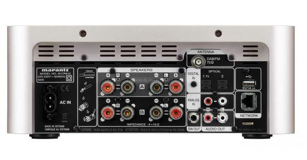 Marantz M-CR612 mikro hifi rendszer hátlap