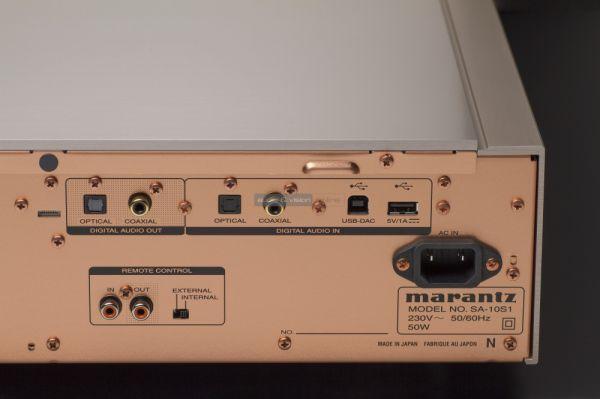 Marantz SA-10 CD-lejátszó digitális ki- és bemenetek