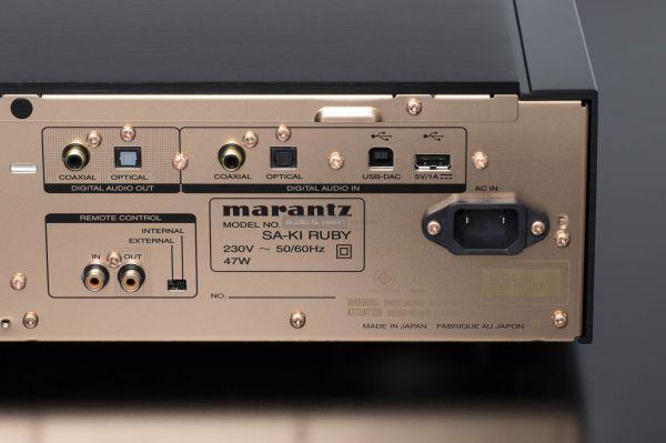 Marantz SA KI Ruby CD-lejátszó hátlap digitális bemenetek és kimenetek