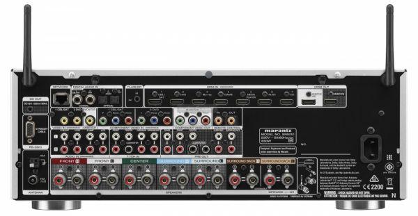 Marantz SR5010 Dolby Atmos házimozi erősítő hátlap