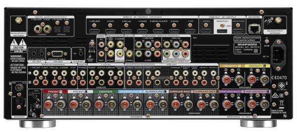 Marantz SR7010 Dolby Atmos házimozi erősítő hátlap