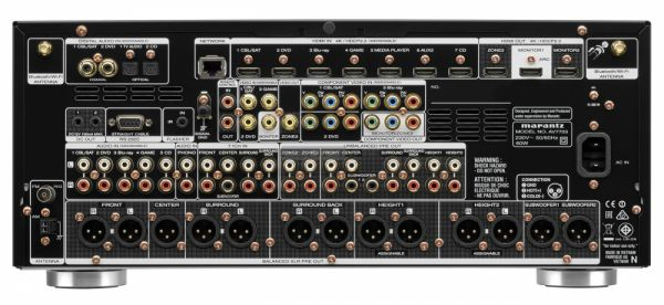 Marantz AV7703 házimozi processzor hátlap