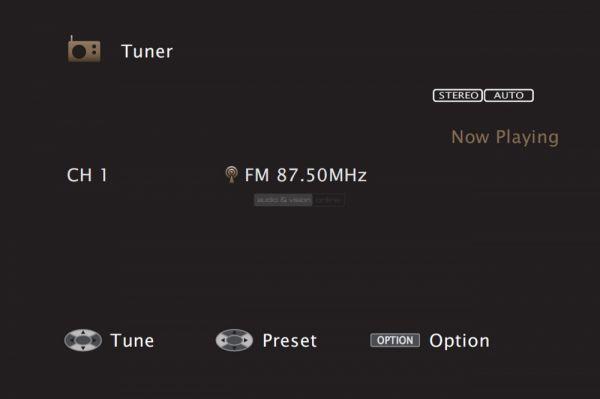Marantz SR7012 házimozi erősítő menü FM tuner